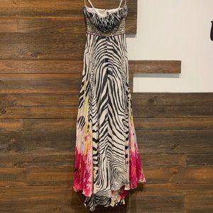 Jovani Zebra Print Strapless Prom/Event Dress